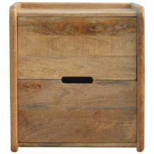 2 Drawer Open Slot Gallery Back Bedside Table