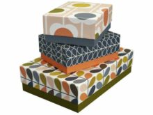 Orla Kiely Storage Box Set of 3 Flowers