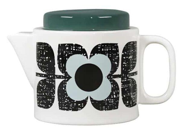 Orla Kiely Teapot Scribble Square Flower Aqua