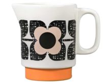 Orla Kiely Milk Jug Scribble Flower Square Rose Tint