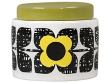 Orla Kiely Small Storage Jar Scribble Square Flower Sunshine