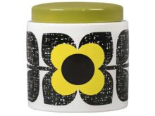 Orla Kiely Ceramic Storage Jar Scribble Square Flower Sunshine