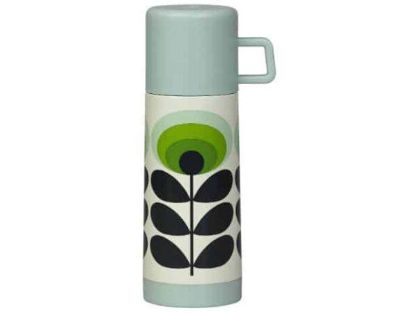 Orla Kiely Flask Oval Flower Green 350ml