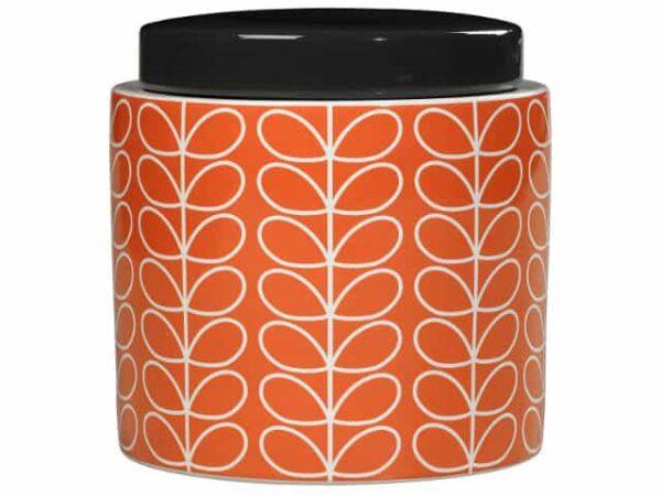 Orla Kiely Persimmon Linear Stem Storage Jar Main