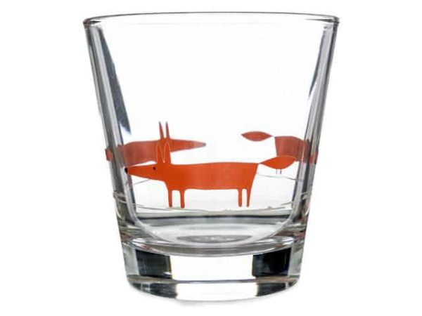 Scion Mr Fox Glass Tumbler - Orange