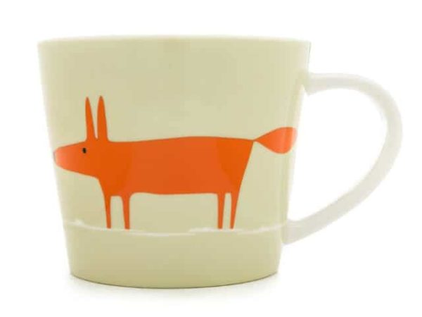 Scion Mr Fox Large Mug 525Ml - Neutral & Orange
