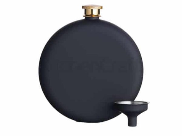 Soft Touch Black Hip Flask