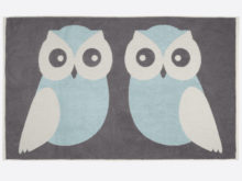 Anorak Blue Kissing Owls Bath Sheet