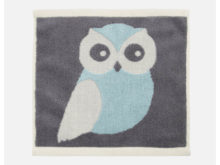 Anorak Blue Kissing Owls Face Cloth