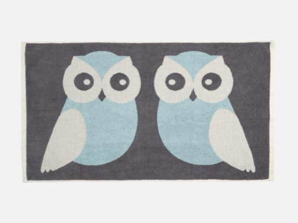 Anorak Blue Kissing Owls Hand Towel