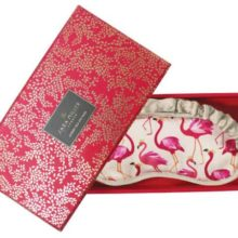 Sara Miller Silk Eye Mask Flamingo
