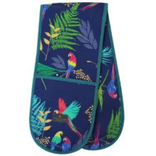 Sara Miller Double Oven Glove Parrot Repeat