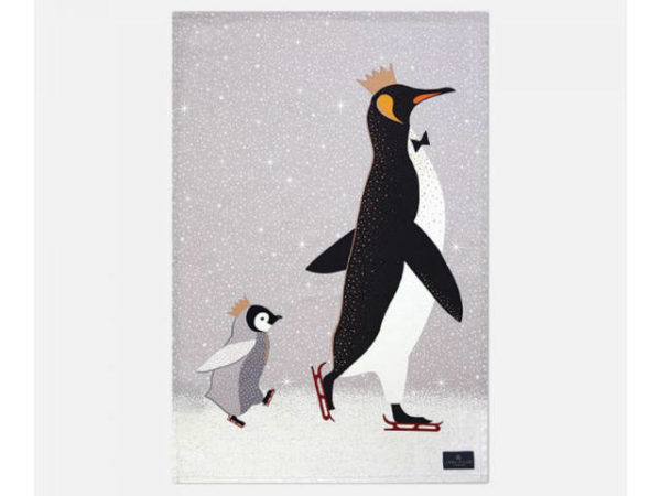Sara Miller Tea Towel Penguin Placement Main