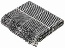 Bronte By Moon Prince Of Wales Merino Lambswool Black And White Throw