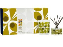Orla Kiely Olive Acorn Fig Tree Candle And Diffuser Set