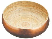 Artesa Large 26cm Bamboo Copper Finish Serving Bowl