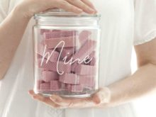 Personalised Script Font Biscuit Treat Jar