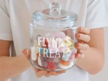 Personalised Glass Treats Jar
