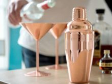 Rose Copper Cocktail Shaker