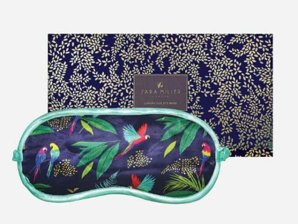 Sara Miller Silk Eye Mask Parrot
