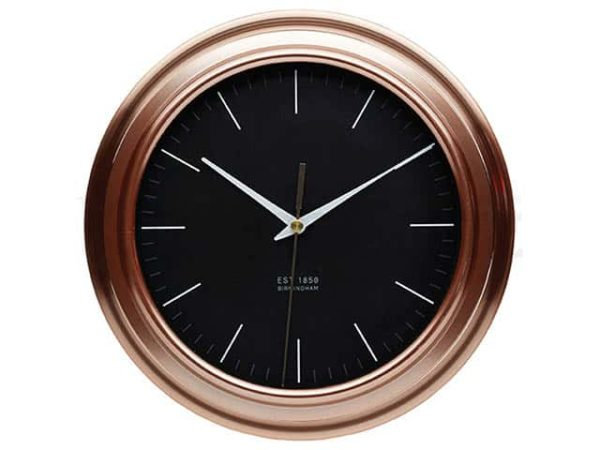 KitchenCraft Round Copper Effect Clock