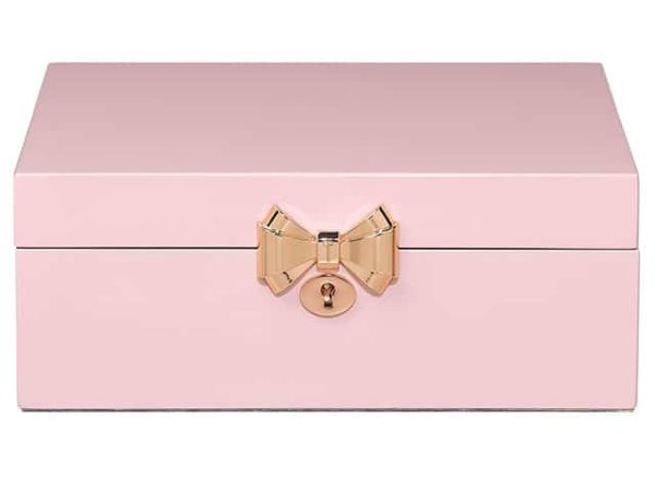 Ted Baker Hero Pink Lacquer Musical Ballerina Jewellery Box
