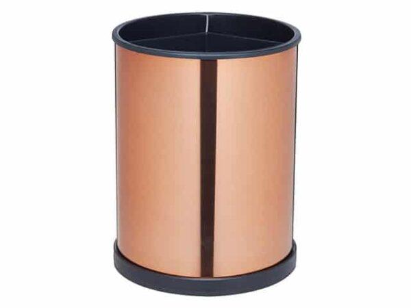 MasterClass Copper Effect Rotating Utensil Holder 18x14cm