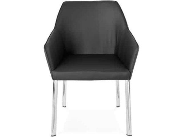 Livingston Design Chrome Faux Leather Armchair