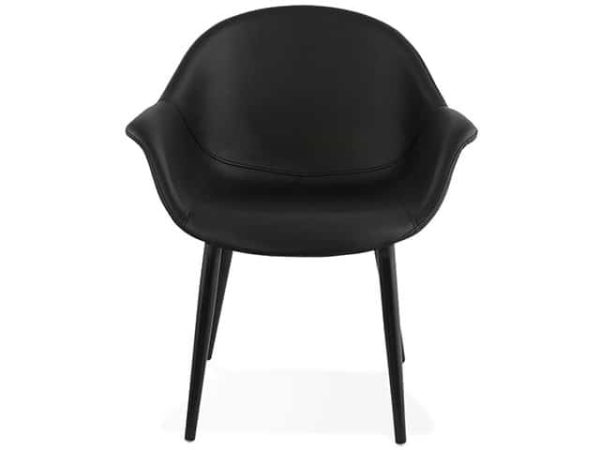 Melrose Faux Leather Designer Armchair