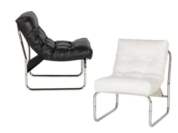 Boudoir Design Faux Leather Lounge Chair