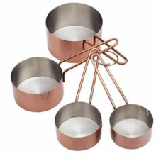 MasterClass Stainless Steel Copper Finish Measuring Cups 4pc