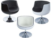 Harlow Modern Design Swivel Armchair