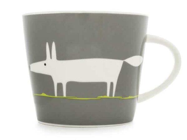Scion Mr Fox Charcoal and Lime Standard Mug 350ml