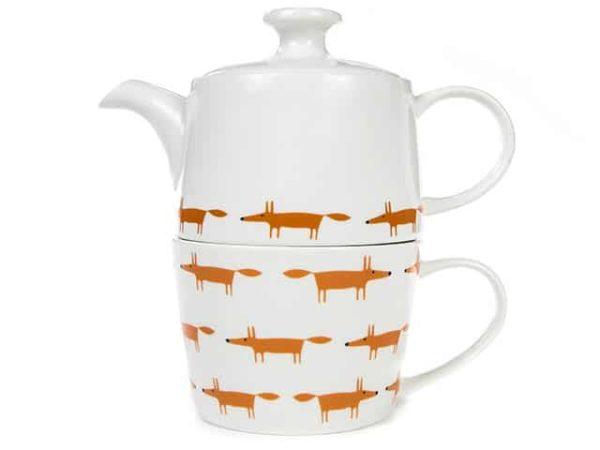 Scion Ceramic & Orange Mr Fox Tea for One Set