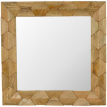 Pineapple Carved Wooden Square Mirror Frame