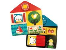 Petit Collage Day & Night 2-in-1 Wooden Tray Puzzle