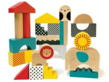 Petit Collage Animal Town Wooden Building Blocks