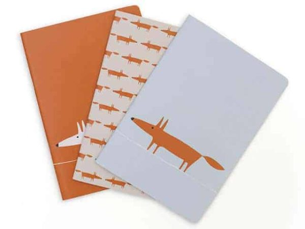 Scion Living Mr Fox Notebooks Set of 3
