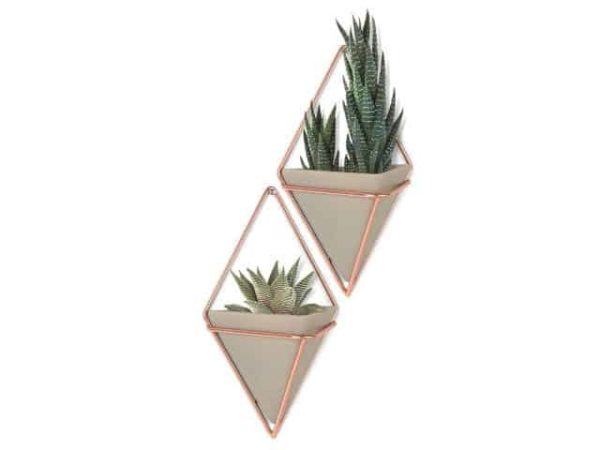 Umbra Trigg Small Copper Concrete Plants