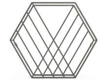 Umbra Zina Magazine Rack Metal Titanium