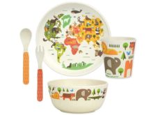 Petit Collage Our World Kids Bamboo Dinnerware Set