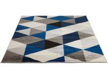 Kokoon Muoto Blue Geometric Rug 160cm