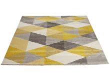 Kokoon Muoto Geometric Yellow Rug 160cm