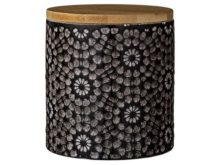 Lene Bjerre Abella Black Storage Jar Small