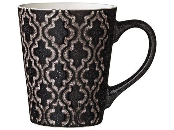 Lene Bjerre Black Abella Geometric Design Mug 350ml