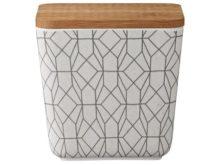 Lene Bjerre Babette Melamine Bamboo Storage Box 10.5cm High