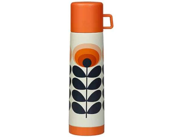 Orla Kiely 70s Oval Flower Orange Flask
