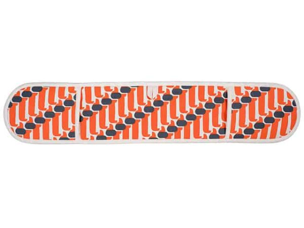 Orla Kiely Dachshund Double Oven Glove Persimmon