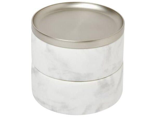 Umbra Tesora White Nickel White Marble Jewellery Box