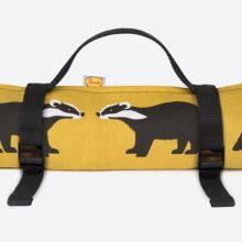 Anorak Kissing Badgers Picnic Blanket Medium